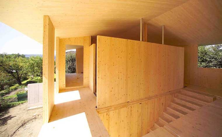 Paneles de madera contralaminadas