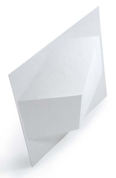 Azulejos de papel reciclado en relieve