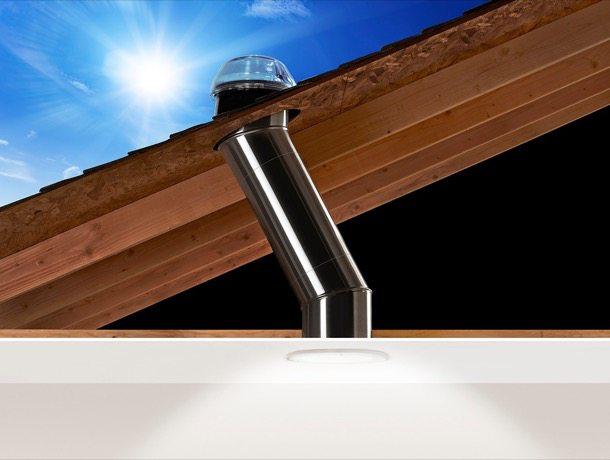 Sistema de iluminación natural con tubos solares